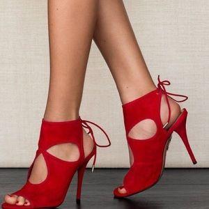 Aquazurra Sexy Thing 105mm Sandal sz 37.5 Red